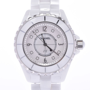 CHANEL J12 Diamond MOP Dial Ceramic Quartz Ladies Watch H2422