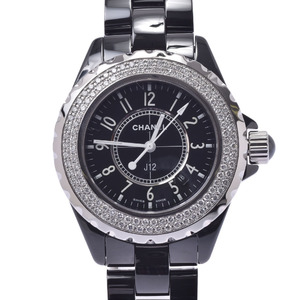 CHANEL J12 Diamond Ceramic Quartz Ladies Watch H0949