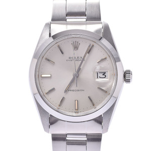 ROLEX Oyster Date 6694 Boys SS Watch Manual winding Silver Dial
