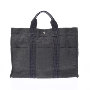 Hermes Her Line MM Gray Unisex Canvas Tote Bag