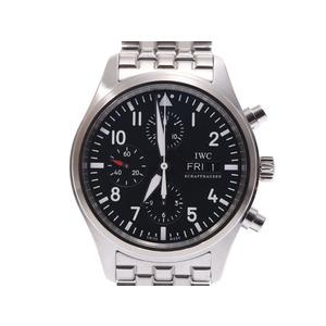 IWC SCHAFFHAUSEN Idabrucei Schaffhausen Pilot\'s Watch Chrono IW371704 Mens SS Automatic Black Dial