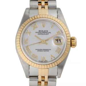 ROLEX Datejust 2002 Made Ladies Watch 79173NR Stainless Steel White Shell Dial
