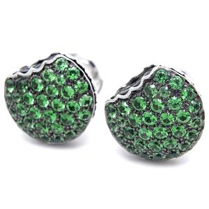 Boucheron Tantasion Macaroon Ladies Earrings 750 White Gold Green