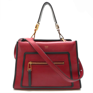 Fendi Runaway Small RUNAWAY 2WAY Bag Ladies Handbag 8BH344 Calf Red