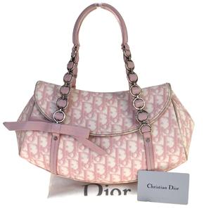 Christian Dior Trotter PVC Handbag Pink