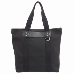 Gucci Canvas Tote Bag Black 268175 Leather