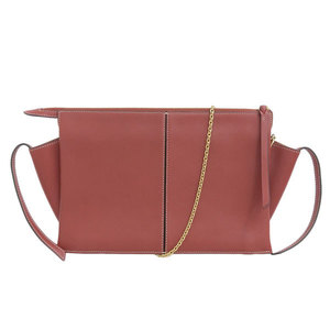 Celine Triford 2way Clutch Bag Red Leather