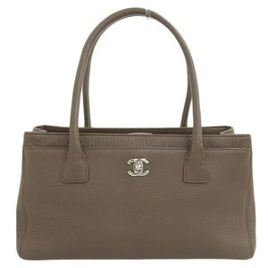 Chanel Leather Executive Tote Bag Brown