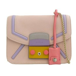 Furla Leather Metropolis Shoulder Bag Multicolor