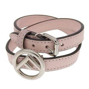 Fendi Leather F is Bracelet Pink