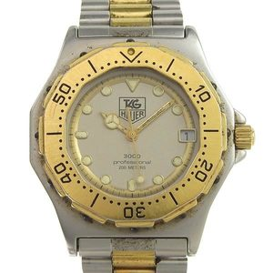 TAG HEUER 3000Proffesional 200M Gold Plated Steel Mens Watch 934.206