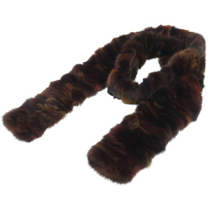 Fendi Real Fur Stall Muffler Gradient Brown 0165FENDI