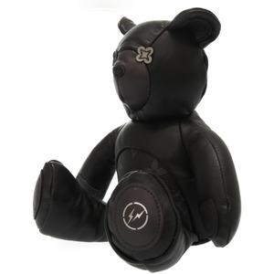Louis Vuitton Fragment Dudu GI0184 Teddy Bear Plush Doll DOU LOUIS Hiroshi Fujiwara Collaboration Leather Black 0135LOUIS VUITTON