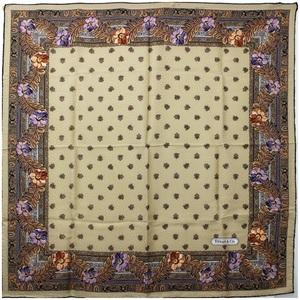 Tiffany silk scarf brown TIFFANY