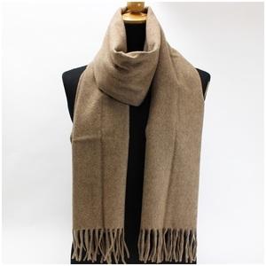 Chanel cashmere scarf beige plain 188 x 41 cm CHANEL