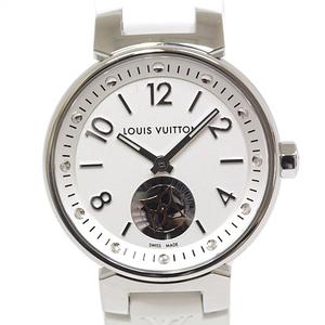 LOUIS VUITTON Louis Vuitton Ladies Watch Tambour Moon Star PM Bronche Q8J10 Silver Dial Quartz