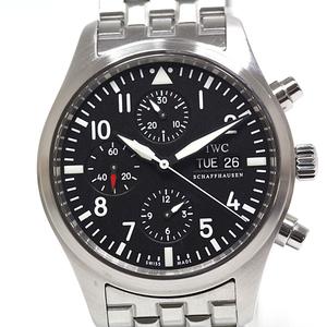 IWC Men's Watch Pilot's Chronograph IW371704 Black Dial Automatic winding