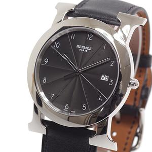 HERMES Hermes Men's Watch H Rondo HR1.710 Black Dial Quartz