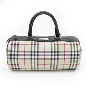 BURBERRY Burberry Check Handbag Beige Ladies Men