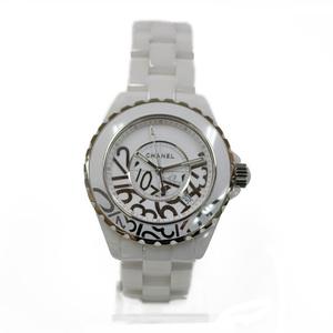 CHANEL Chanel SS Watch Stainless Steel Ceramic J12 Graffiti H5240 Ladies Men