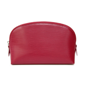 LOUIS VUITTON Epi Pochette Cosmetic Leather Fuchsia Engine Makeup Pouch Louis Vuitton Ladies Men