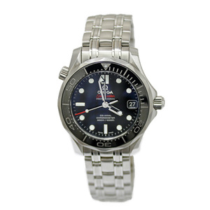 OMEGA Omega SS Watch Stainless Steel Seamaster Professional Divers Silver Black Ladies Men