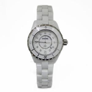 CHANEL Chanel Watch Ceramic J12 White Diamond H1628 Ladies Men