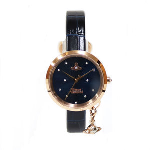 Vivienne Westwood SS Watch BOW Bow Stainless Steel VV139NVNV Navy Ladies Men's