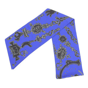 Hermes HERMES Maxi Twill Silk Serio Ludere Serioldere Nicolas Buffe Design Scarf