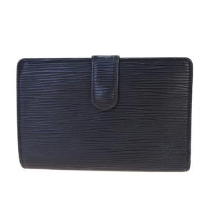 ルイ・ヴィトン(Louis Vuitton) エピ ポルトフォイユ ヴィエノワ M63642 レザー 中財布(二つ折り) ブラック