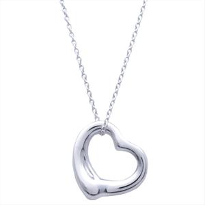 Tiffany Open Heart Elsa Peretti Silver 925 Women's Casual Pendant (Silver)