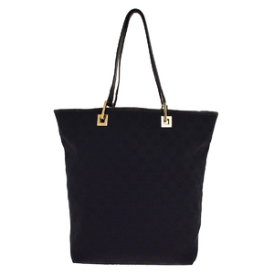 Gucci GG Canvas Canvas Tote Bag Black