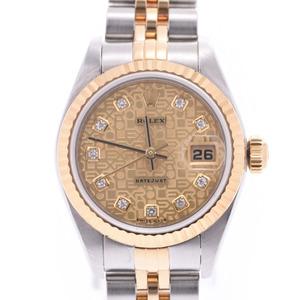 ROLEX Rolex Datejust 10P Diamond 79173G Ladies YG SS Watch Automatic winding ComputerChampagne Dial