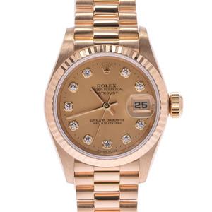 ROLEX Rolex Datejust 10P Diamond 69178G Ladies YG Watch Automatic winding Champagne Dial