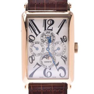 FRANCK MULLER Frank Muller Long Island Perpetual Calendar 1200 QP Men's YG Leather Watch Automatic winding Silver Dial