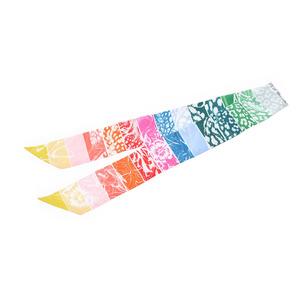 HERMES Hermes Twilly Jungle Love Rainbow Multicolor Women's Silk 100% Scarf