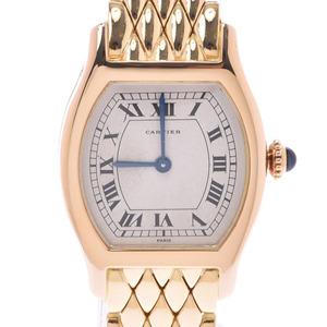 CARTIER Cartier tort antique PARIS notation Ladies YG watch hand-wound ivory dial