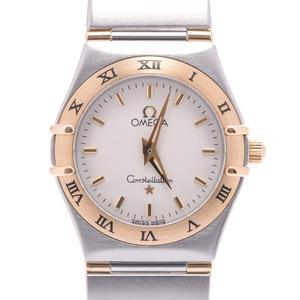 OMEGA Omega Constellation Ladies YG SS Watch Quartz White Dial