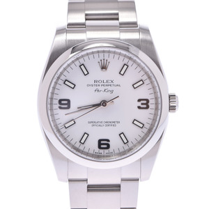 ROLEX Rolex Air King 114200 Boys SS Watch Automatic winding White Dial