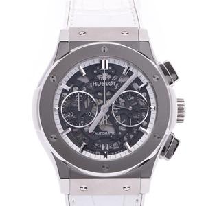 HUBLOT Hublot Classic Fusion Aero Japan Limited All White 525.NE.0127.LR Men's Titanium Leather Watch Self-winding Skeleton Dial