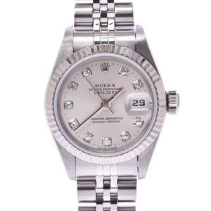 ROLEX Rolex Datejust 10P Diamond 69174G Ladies WG SS Watch Automatic winding Silver Dial