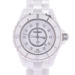 CHANEL J12 Diamond Ceramic Quartz Ladies Watch H1628