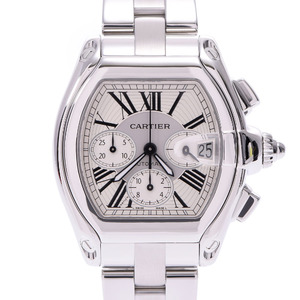 CARTIER Cartier Roadster Chronograph Men's SS Watch Automatic winding White Dial