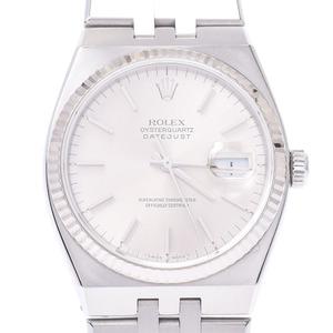 ROLEX Rolex Oysterquartz 17014 Boys WG SS watch quartz silver dial