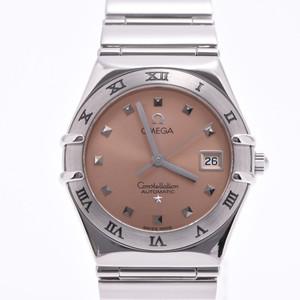 OMEGA Omega Constellation My Choice 1591.61 Ladies SS Watch Quartz Salmon Pink Dial