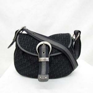 Christian Dior Shoulder Bag 03-BO-0047 Trotter Black Gray Total Pattern Canvas Logo Sling Crossbody Ladies 406687 RYB5622