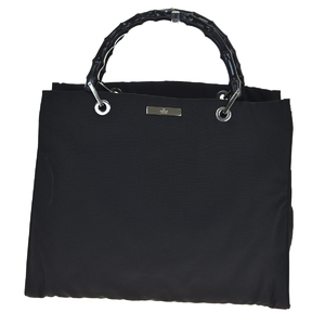 Gucci Bamboo Nylon Tote Bag Black