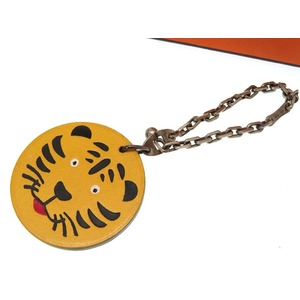 Hermes Tiger Keychain Charm Takashimaya limited Tigers accessory 0057HERMES