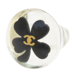 Chanel Clover Plastic Casual Ring Clear