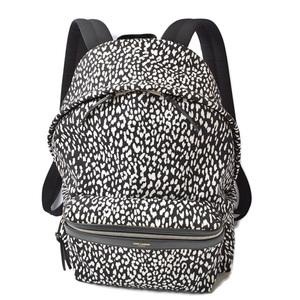 Saint Laurent backpack rucksack leopard print SAINT LAURENT canvas black white 326865